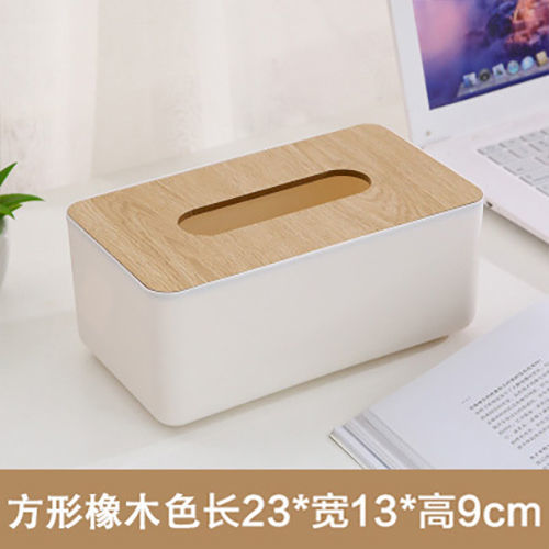 Simple Color Nordic Rectangular Tissue Box for Bedroom Use