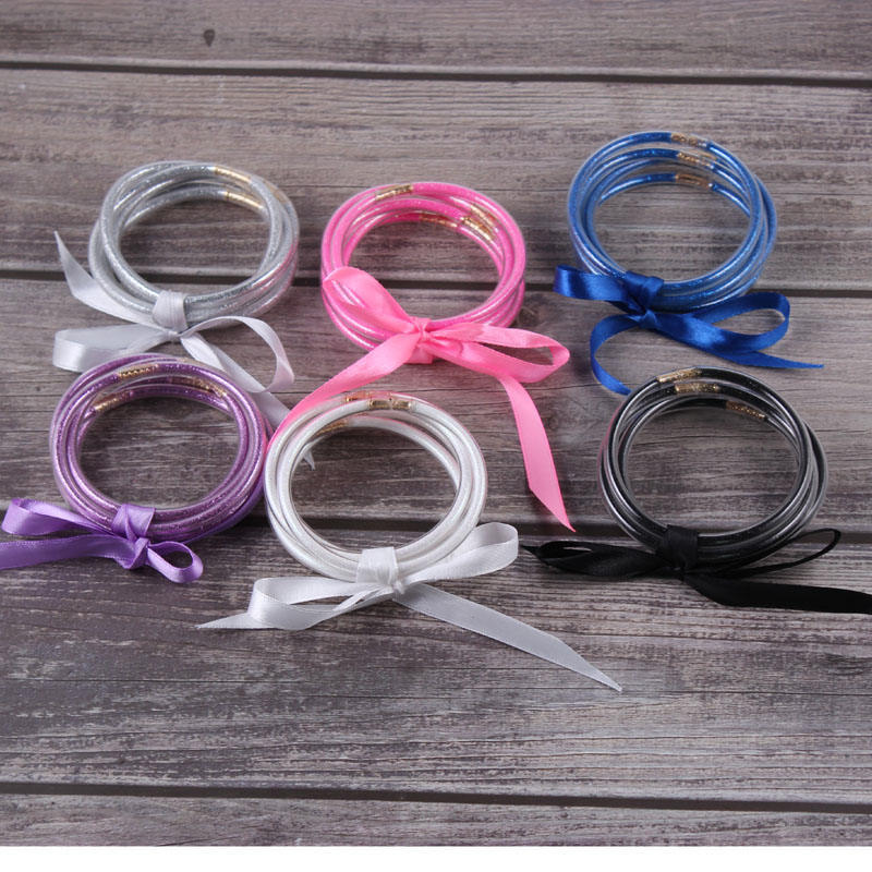 Five Layer Ribbon Silicone Bangle