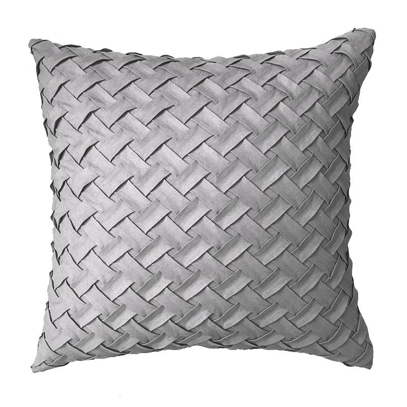Trendy Weave Design Square Pillow for Living Room