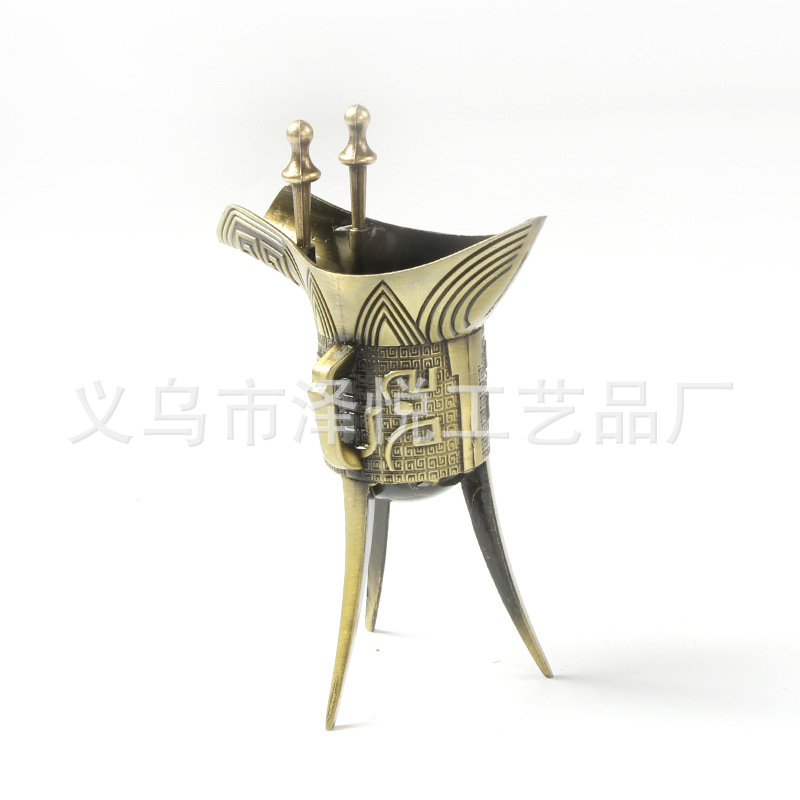 Decorative Antique Metal Wine Cup for Home Kitchen Supplies