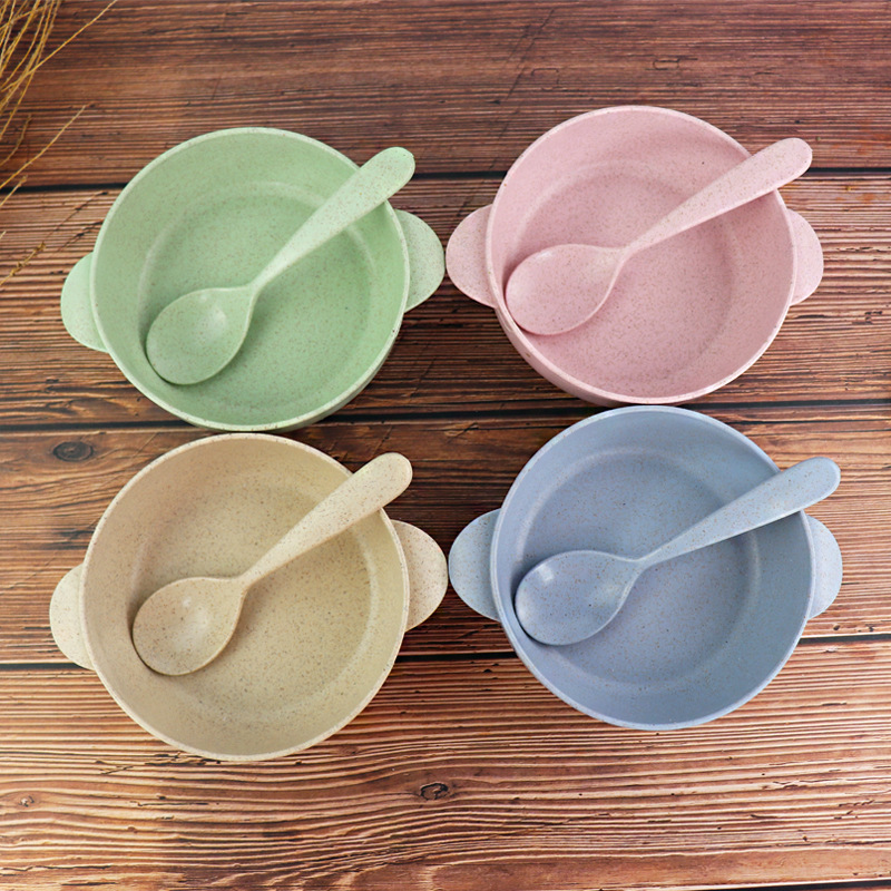 Light Hue Soup Spoon and Bowl with Handle Tableware for Lovely Styles