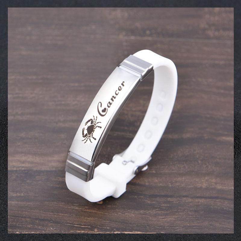 Modern Zodiac Silicone Watch Buckle Bracelet for Casual Wear