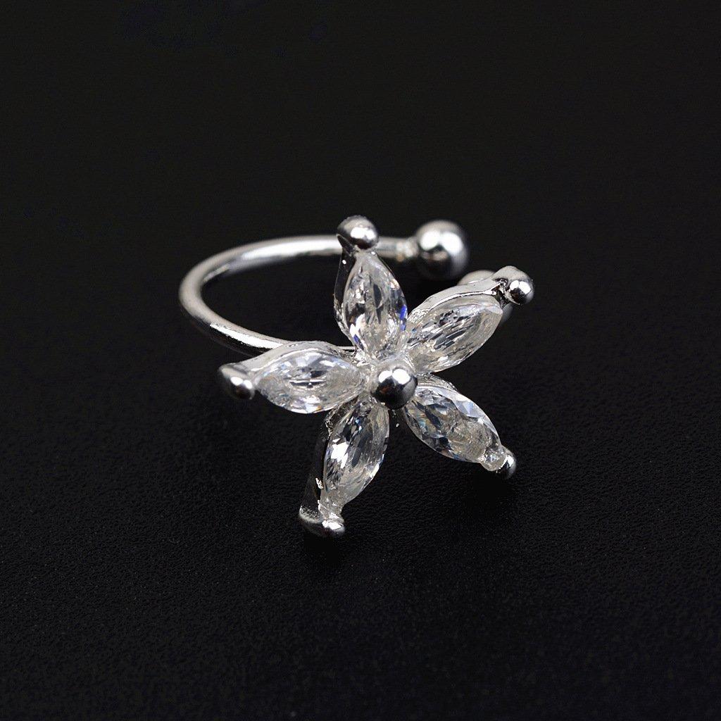 Crystal Flower Alloy Ear Cuff