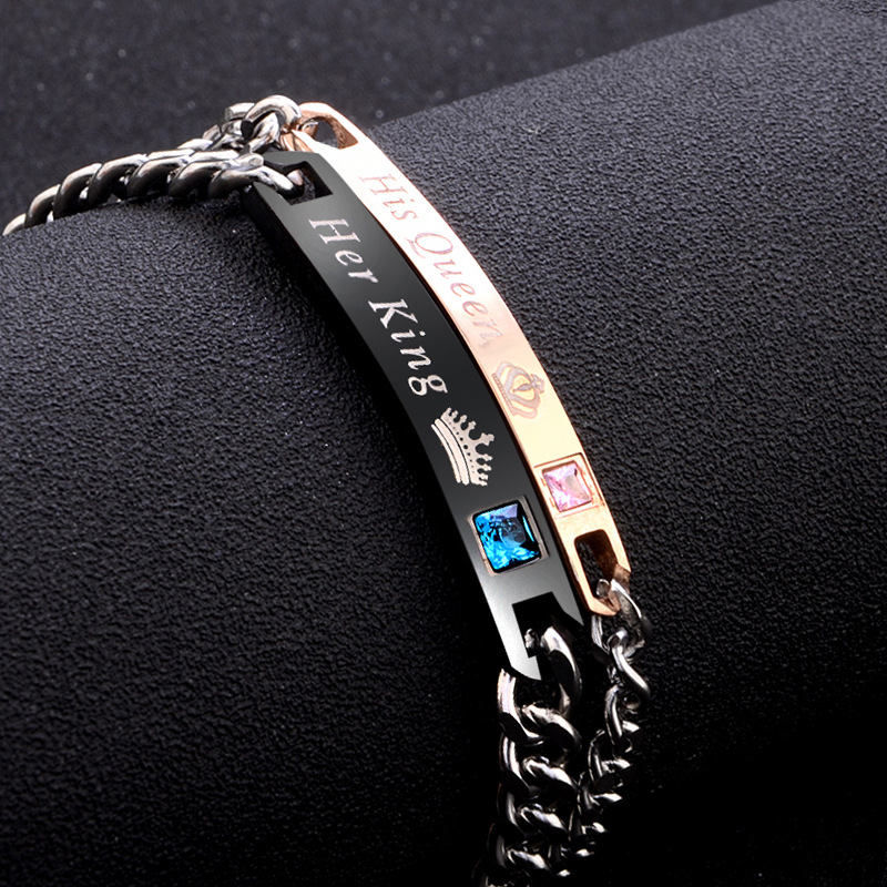Matching Couples' Curb Chain Bracelets for Men and Women
