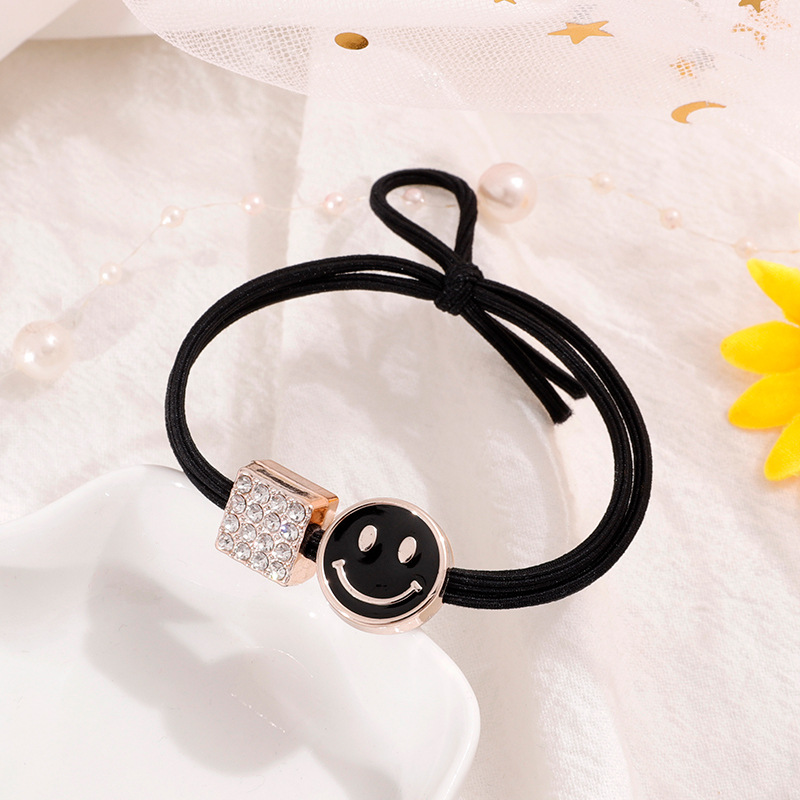 Retro Black Hair Tie
