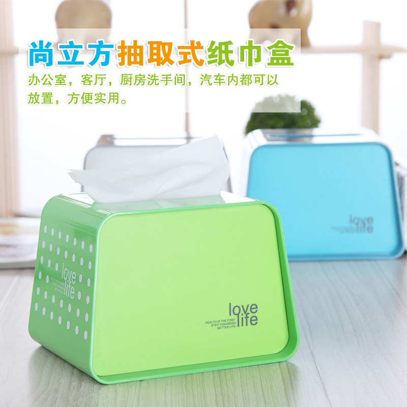 Classic Dual-Use Roll Cartridge Tissue Box for Office Use