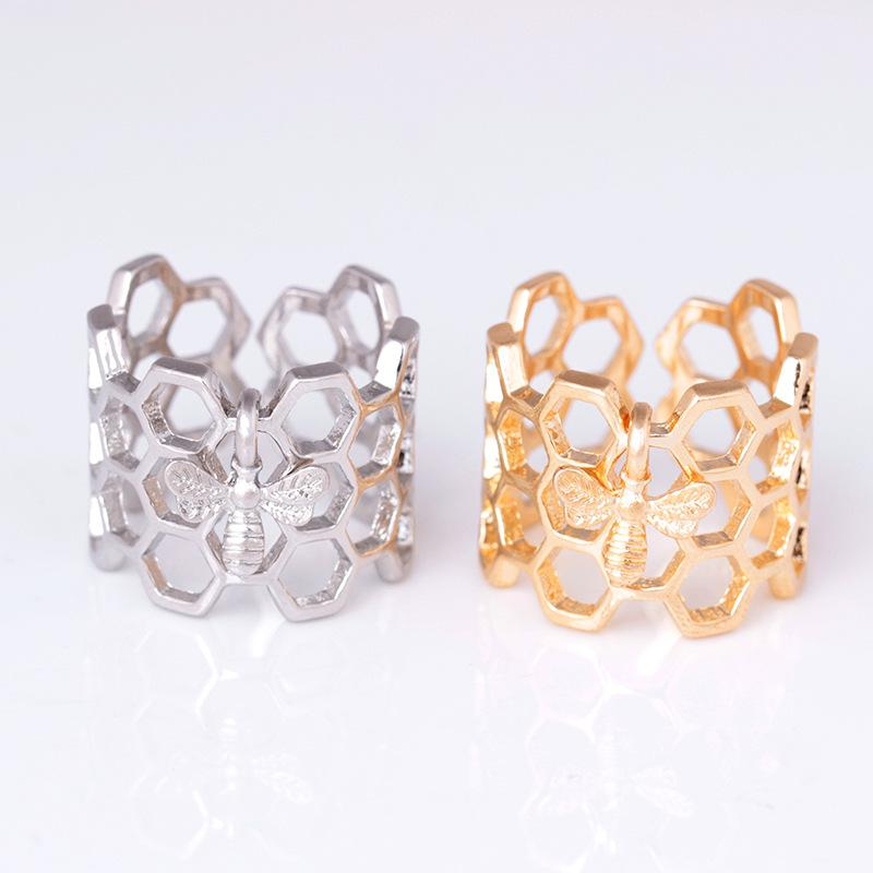 Bee and Honeycomb Ring