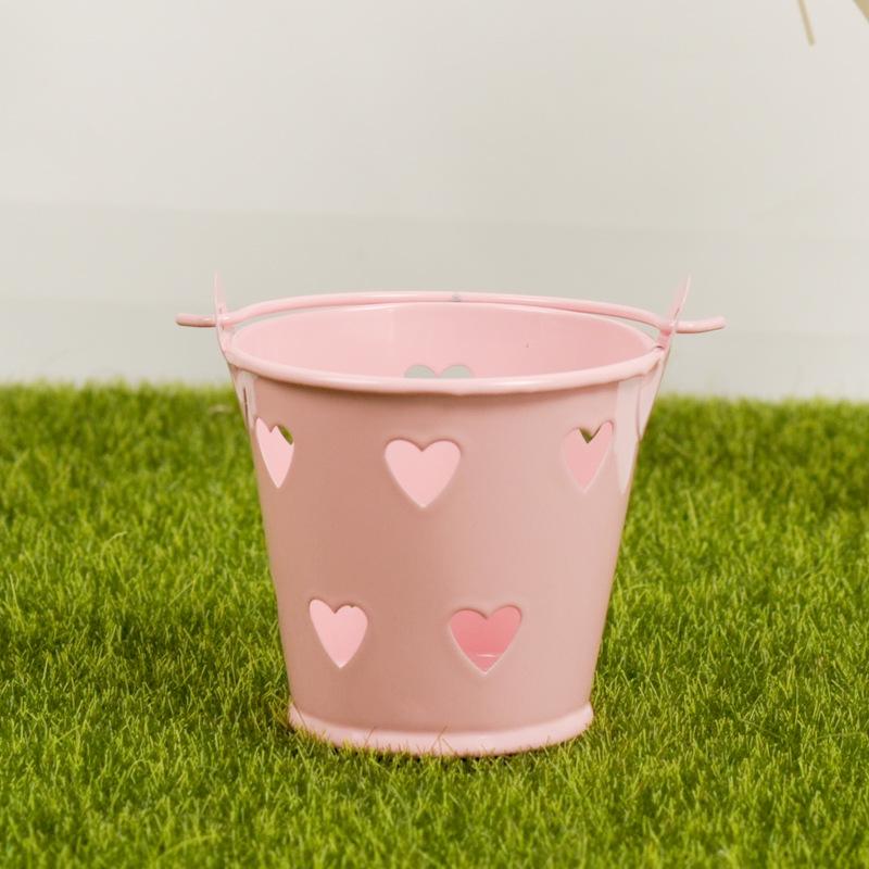 Tinplate Heart Cut-Out Bucket