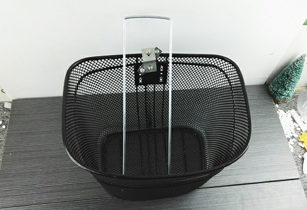 Monochrome Bicycle Basket for Carrying Light Cargo Like Everyday Groceries