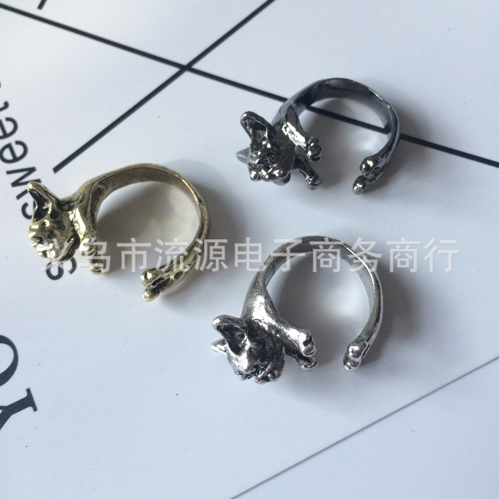 Mighty French Bull Dog Alloy Open Ring for Your Dog Lover Friend