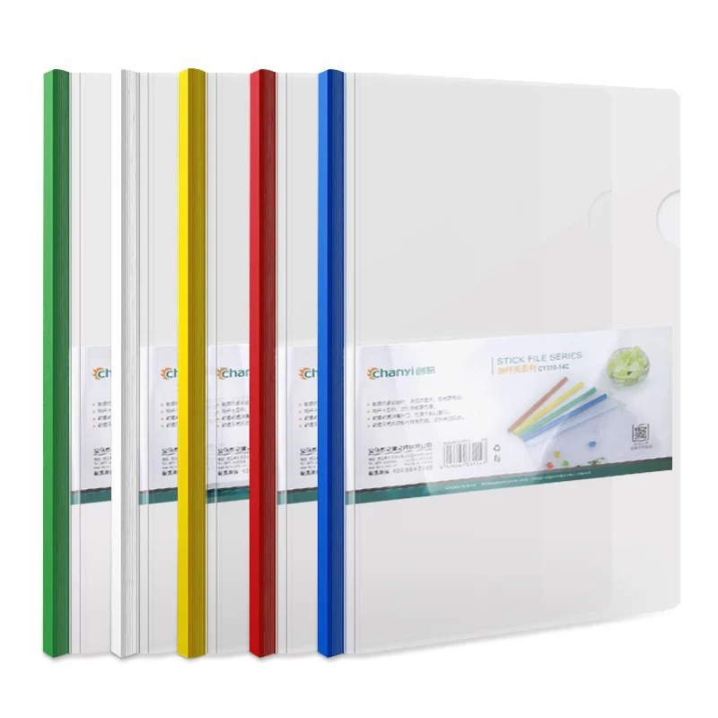 Transparent A4 Plastic Folder for Report Documents Compiling