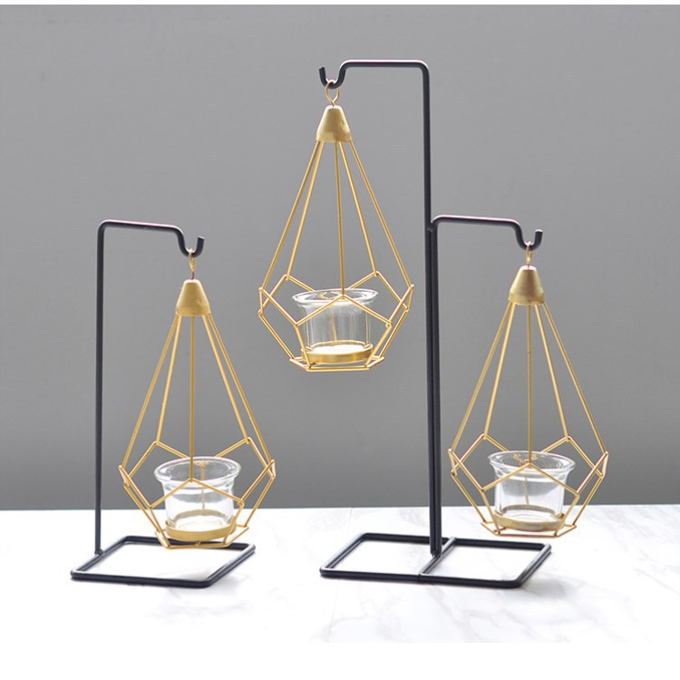 Multipurpose Geometric Candle Holder with Stand for Minimalist Home Décor