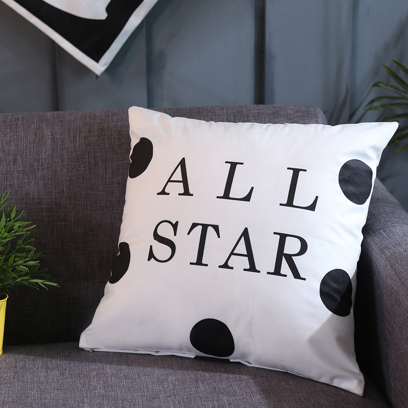 Minimalist Geometric Print Pillow for Sofa and Bed