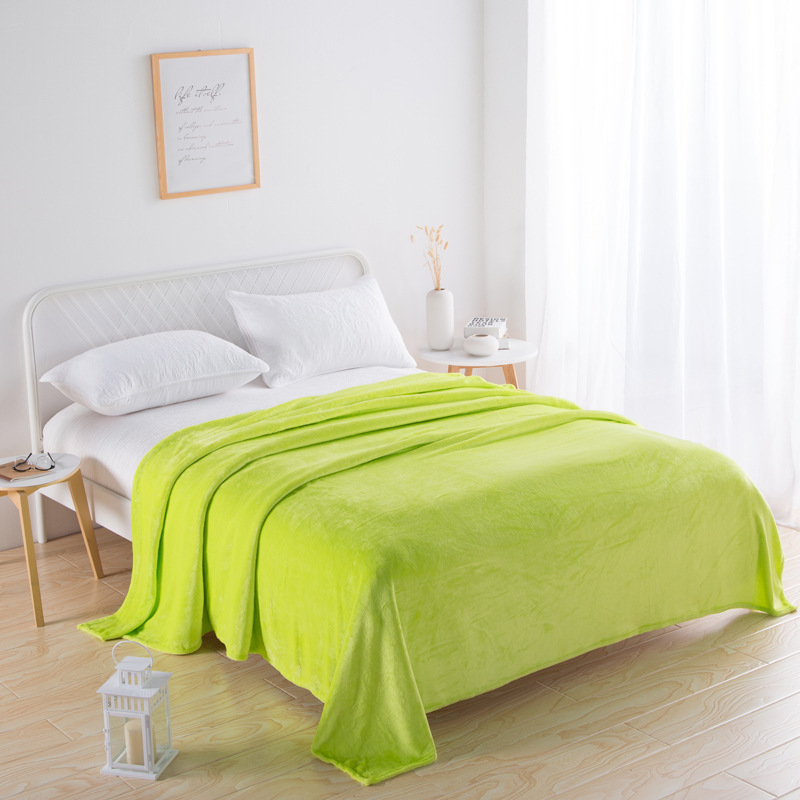 Plain Color Polyester Blankets for Cozy Snuggling Up