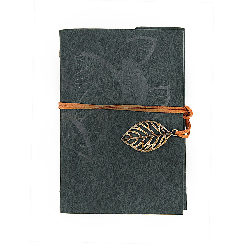 Vintage Faux Leather Notebook for School