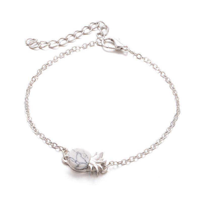 Fancy Pineapple Charm Bracelet