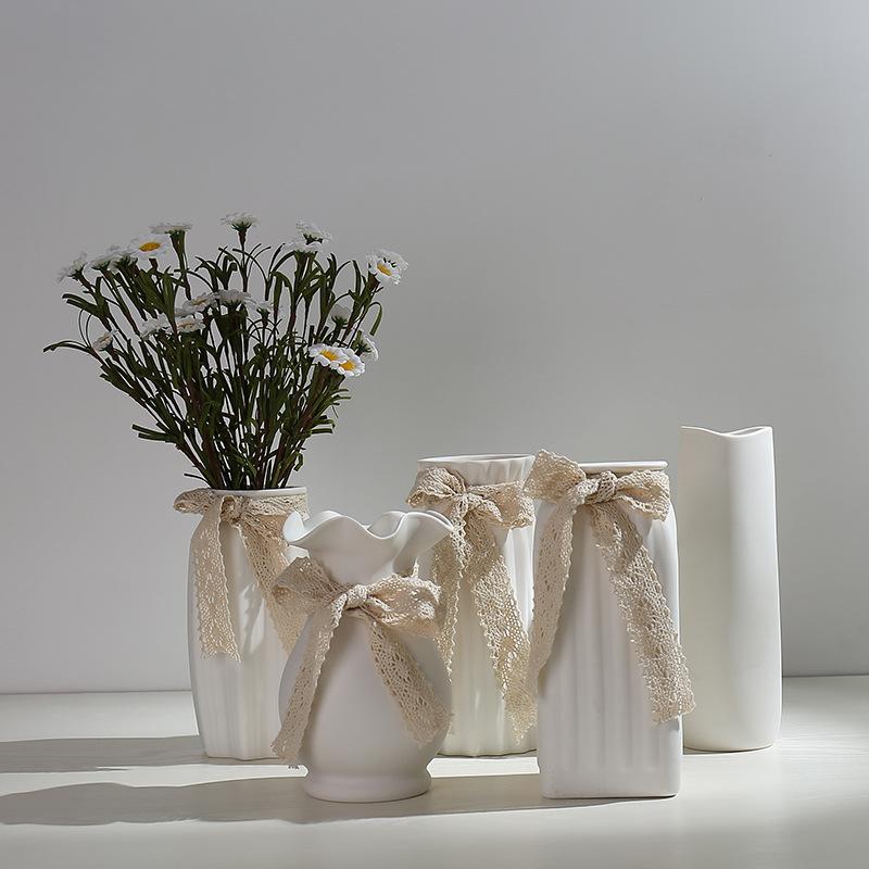 Minimalist White Ceramic Vases for Modern Homes