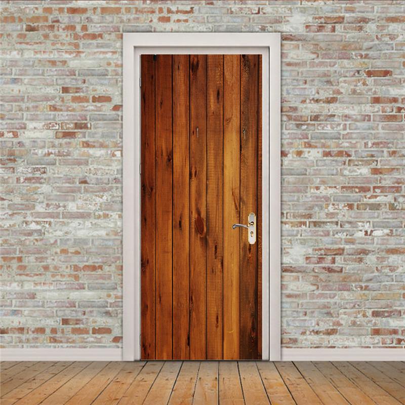 PVC Wooden Door Sticker