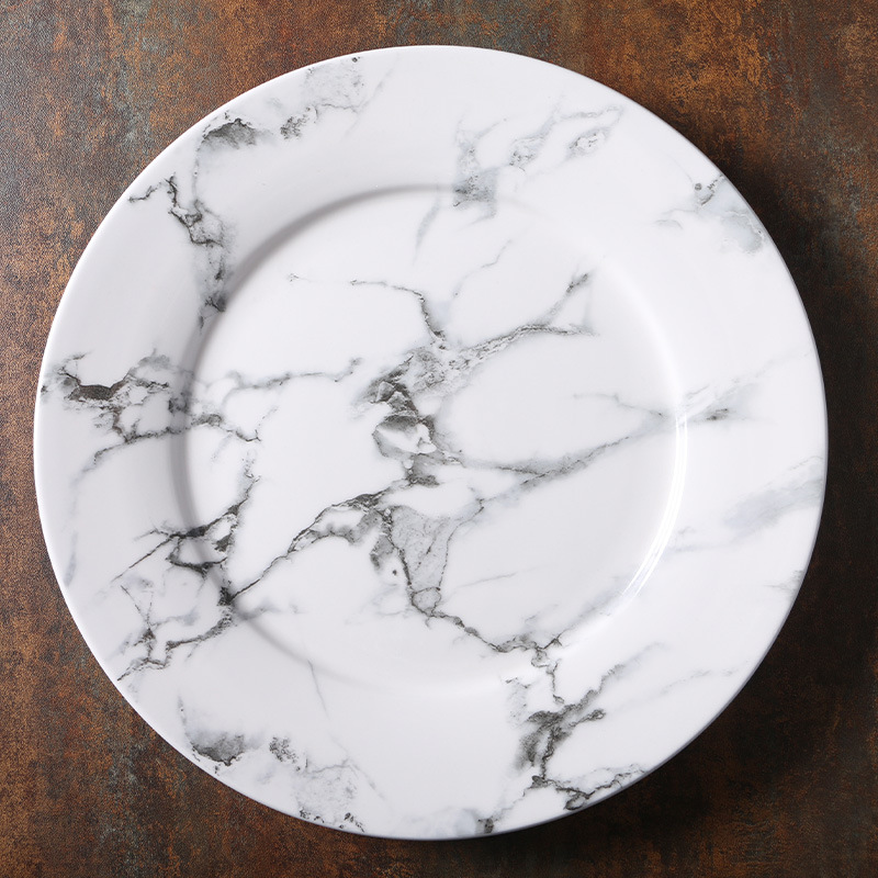 Gray Marbling Porcelain Tableware Collection