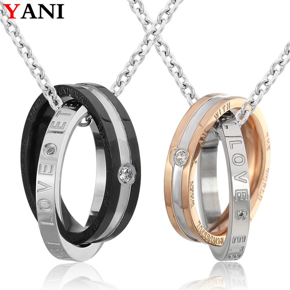 Interlocking Eternal Love Pendant Chain Necklace for Anniversary Gifts