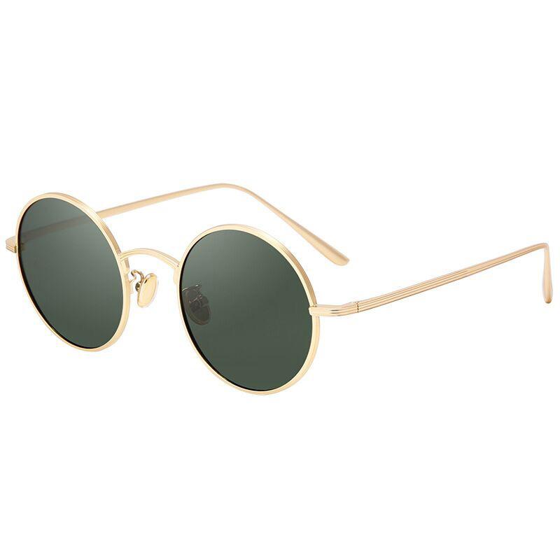 Retro Tinted Round Eye Sunglasses for Women