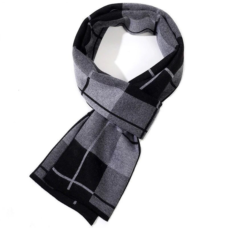 Plaid Fashionable Thick Scarf for Men's Warm and Stylish Winter Accessories