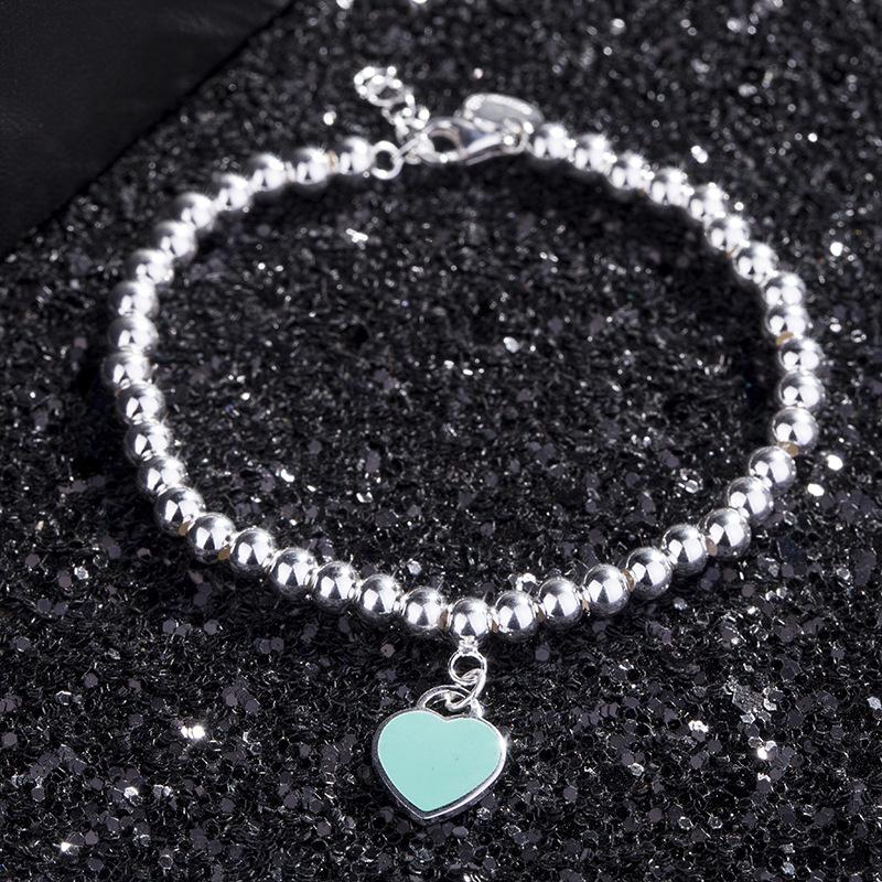 Sterling Silver Heart Pendant Bracelet for Casual Wear