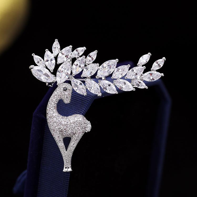 Beautiful Dazzling Deer with Faux Diamonds for Women's Formal Wear