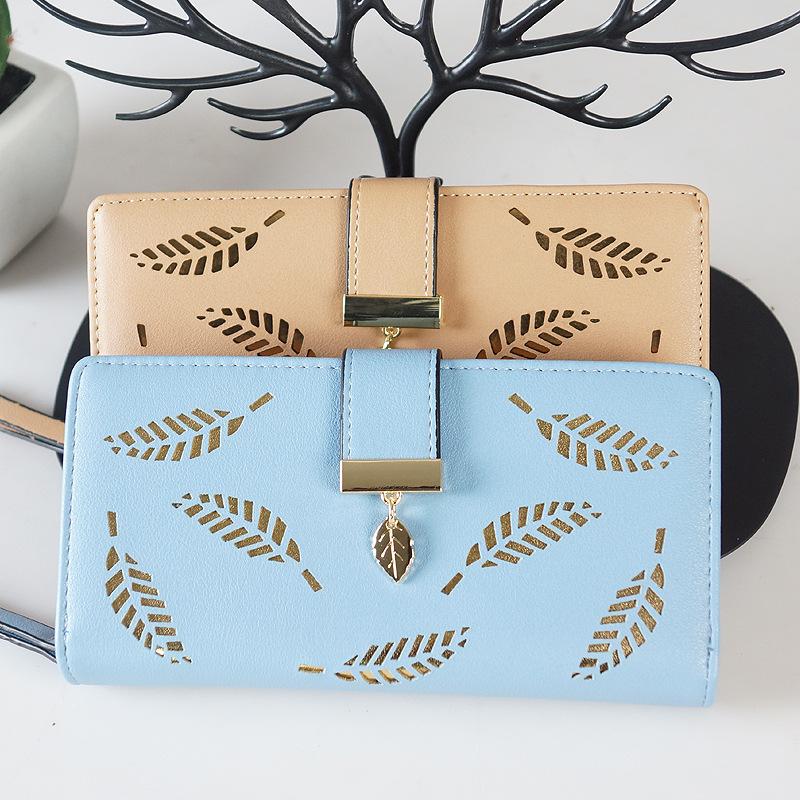Leaf Long Wallet for Ladies' Autumn Fashion