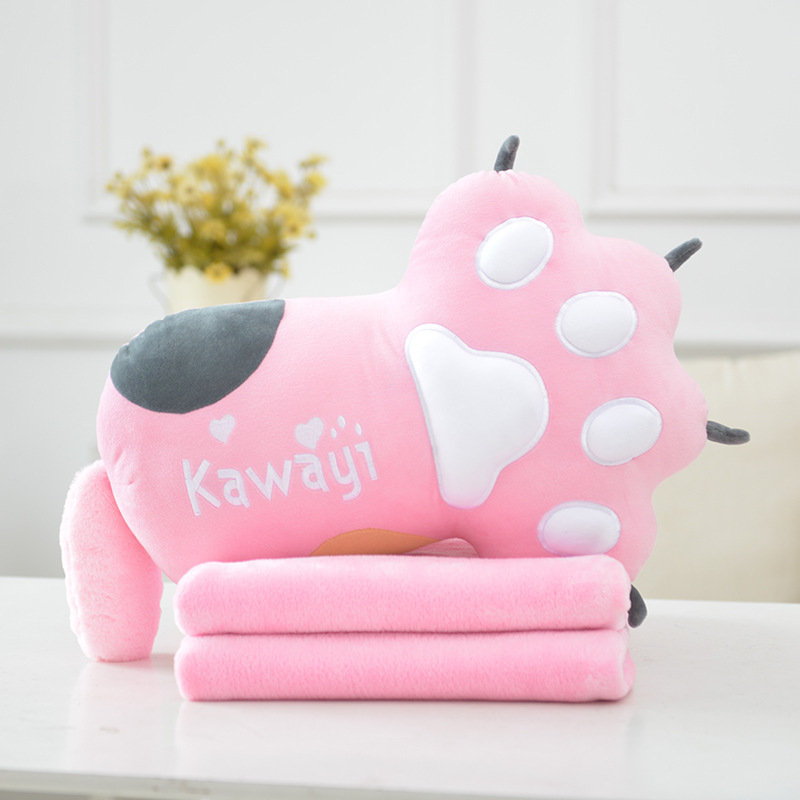 Comfy and Soft Paw Design Pillow for Outdoor Travels