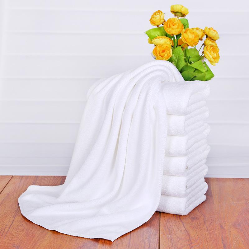 Thick White Microfiber Bath Towel