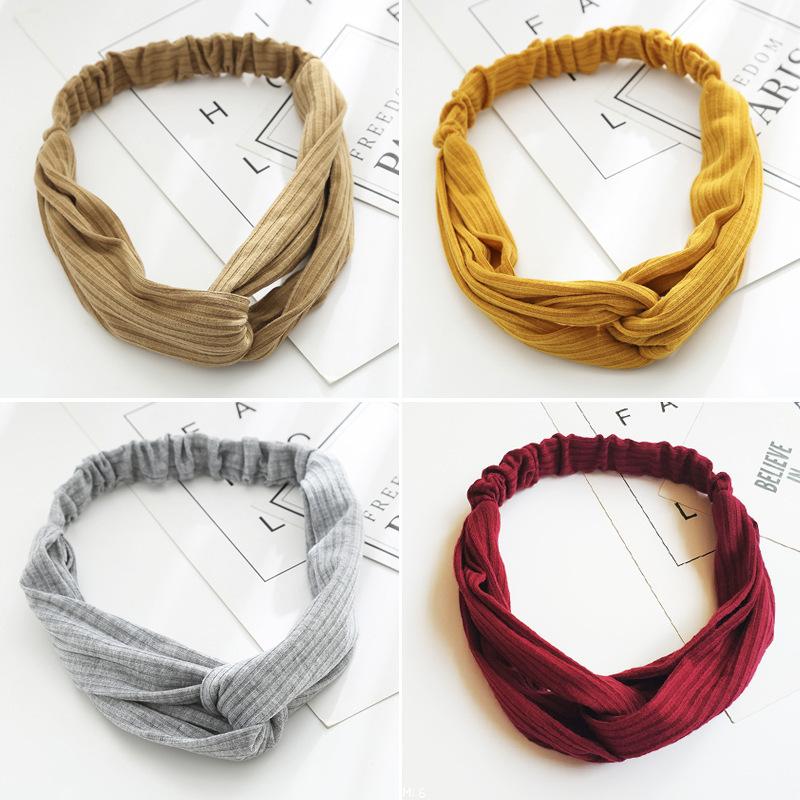 Cream Solid Color Cloth Turban