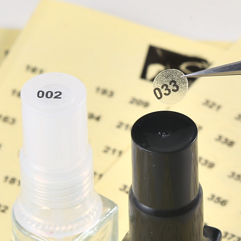 Circular Clear Sticker with Black Numbers for Counting Your Nail Polishes