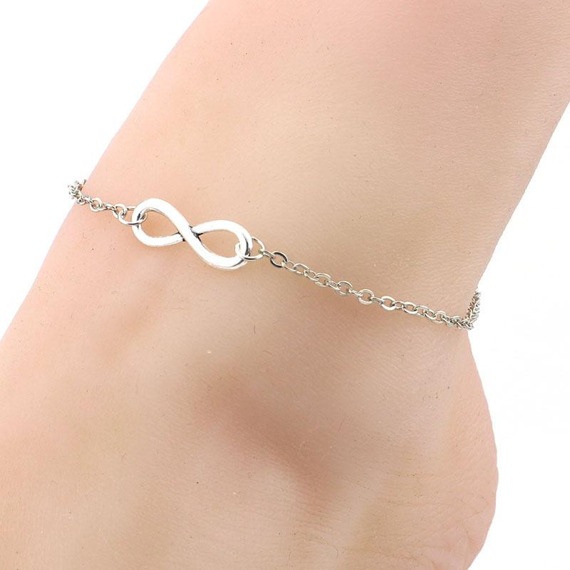 Elegant Infinity Pendant Anklet for Heartfelt Birthday Gifts