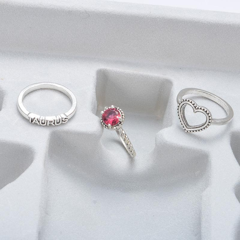 Taurus Heart Ring (3 Pieces/Set)