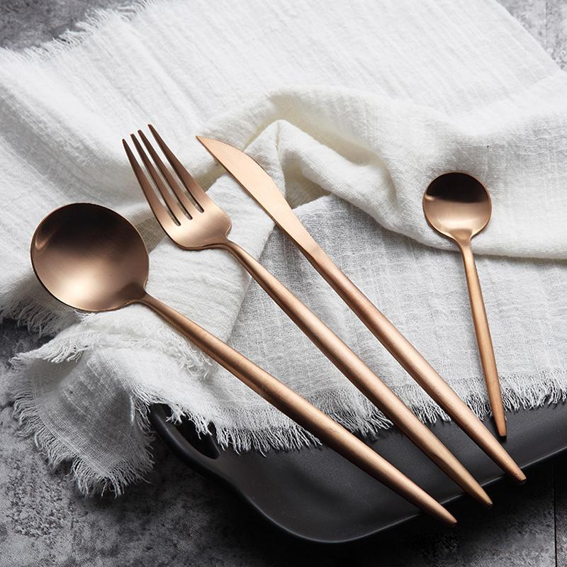 Pointy Handle Cutlery 4-piece Set