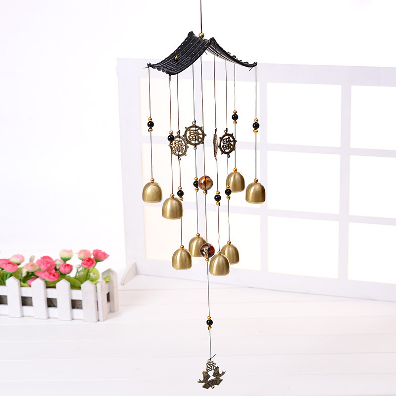 Burnished Metal Windchimes for Decorating Your Home While Attracting Positive Energy