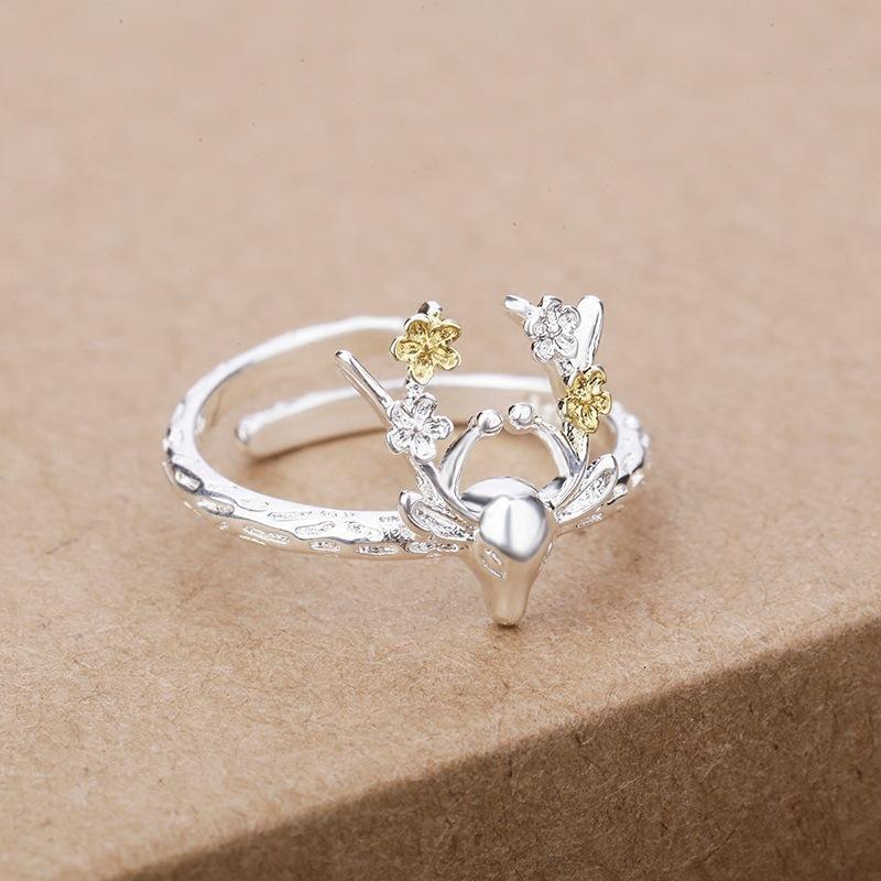 Floral Elk Ring