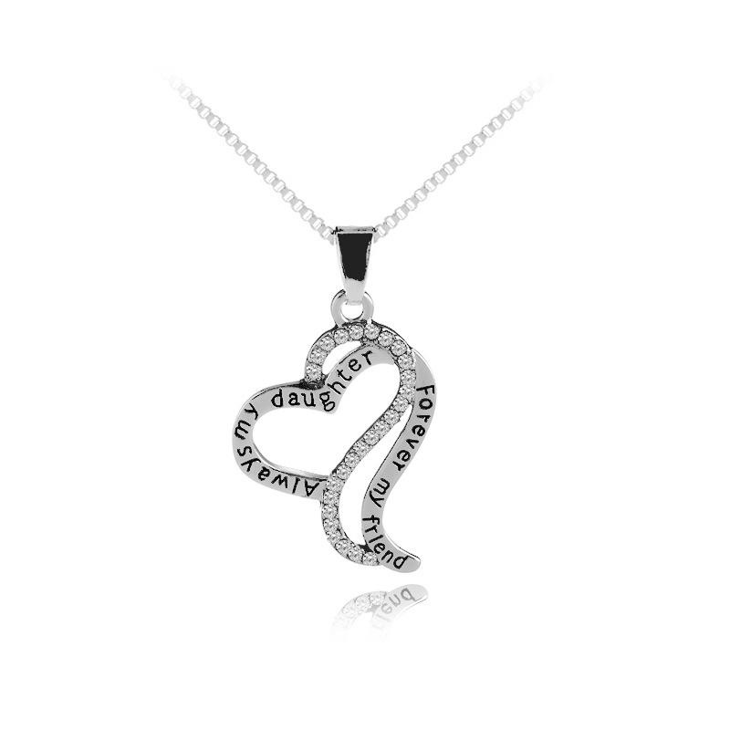 Always my Daughter, Forever My Friend Heart Necklace