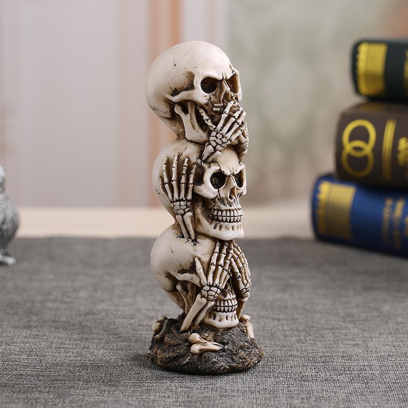 Three Skull Halloween Home Décor