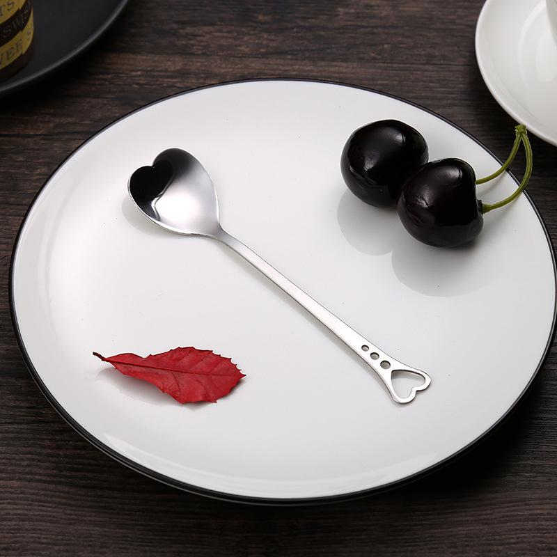 Heart Shaped Stainless Steel Spoon