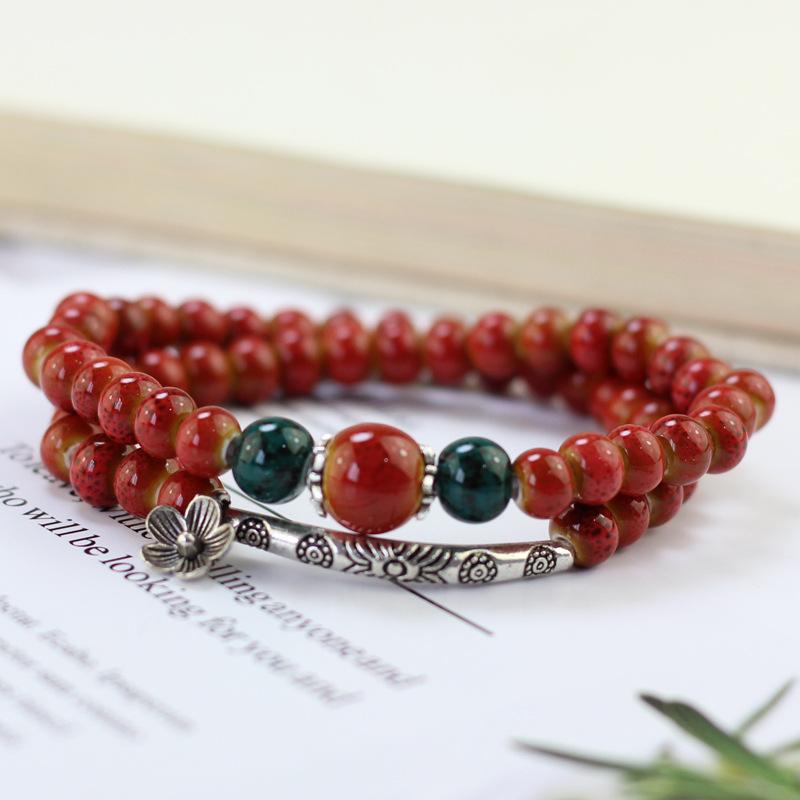 Eastern Ceramic Beads Bracelet for Casual Wear