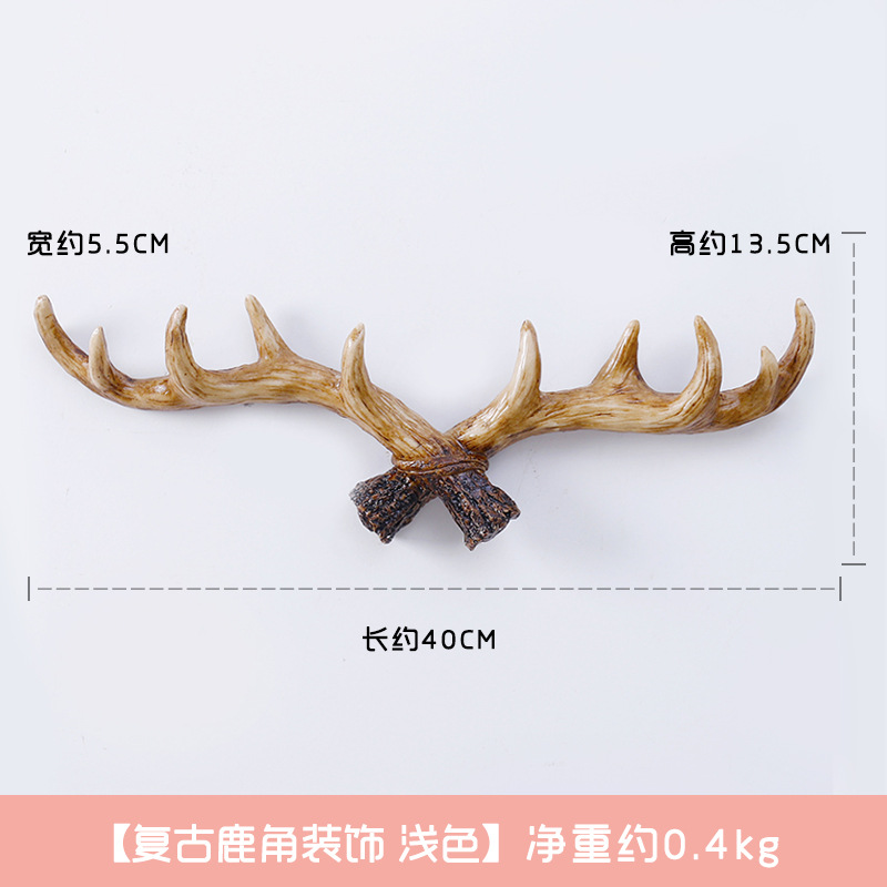Artistic Wooden Antlers Decoration for Accentuating Minimalist Homes