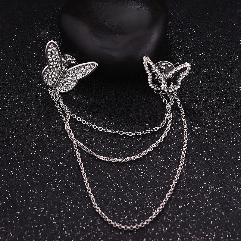 Pretty Butterflies Chained Pins for Decorating Your Collar