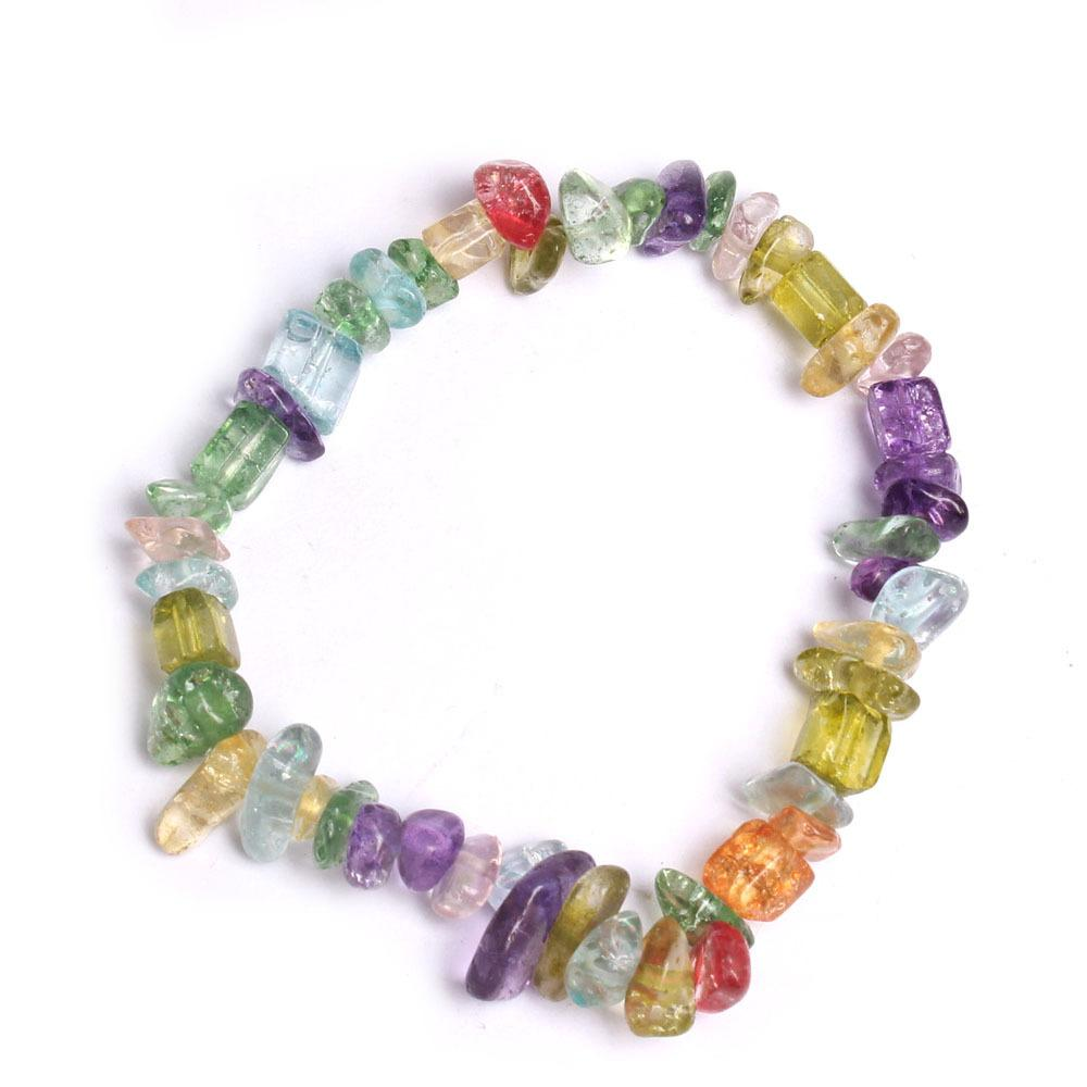 Natural Crushed Crystal Bracelet