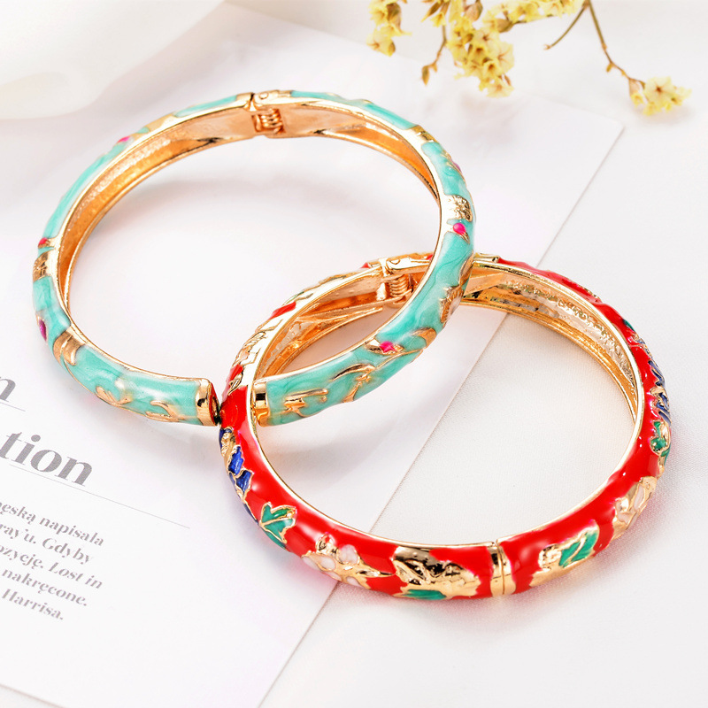 Attractive Cloisonne Ethnic Style Bracelet for Lucky Charm