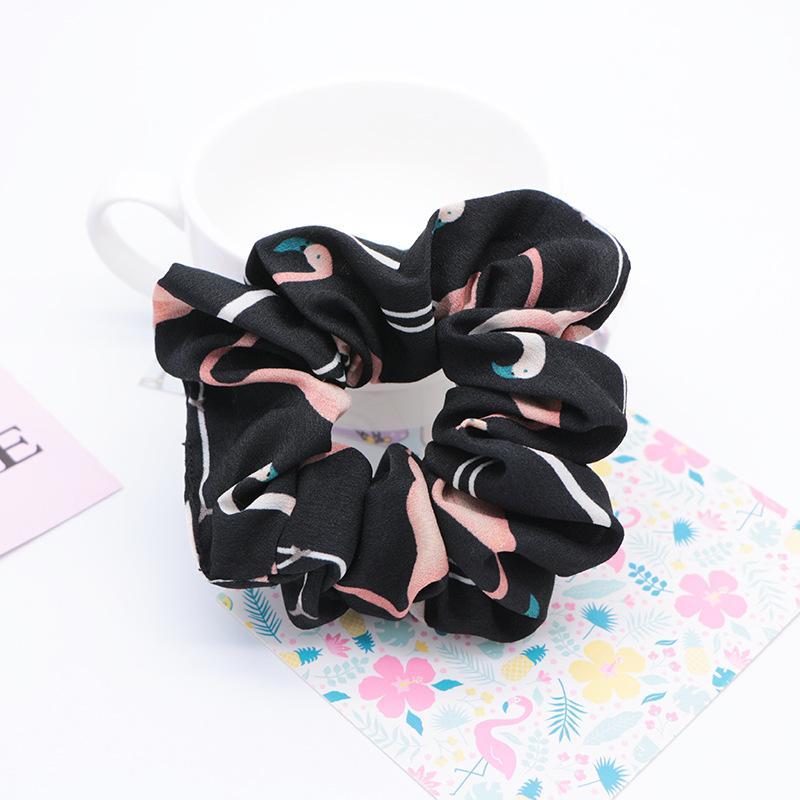 Flamingo Hair Ring Chiffon