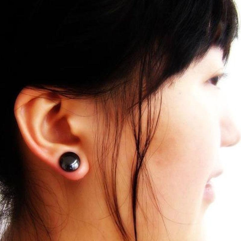Classic Black Magnet Earrings