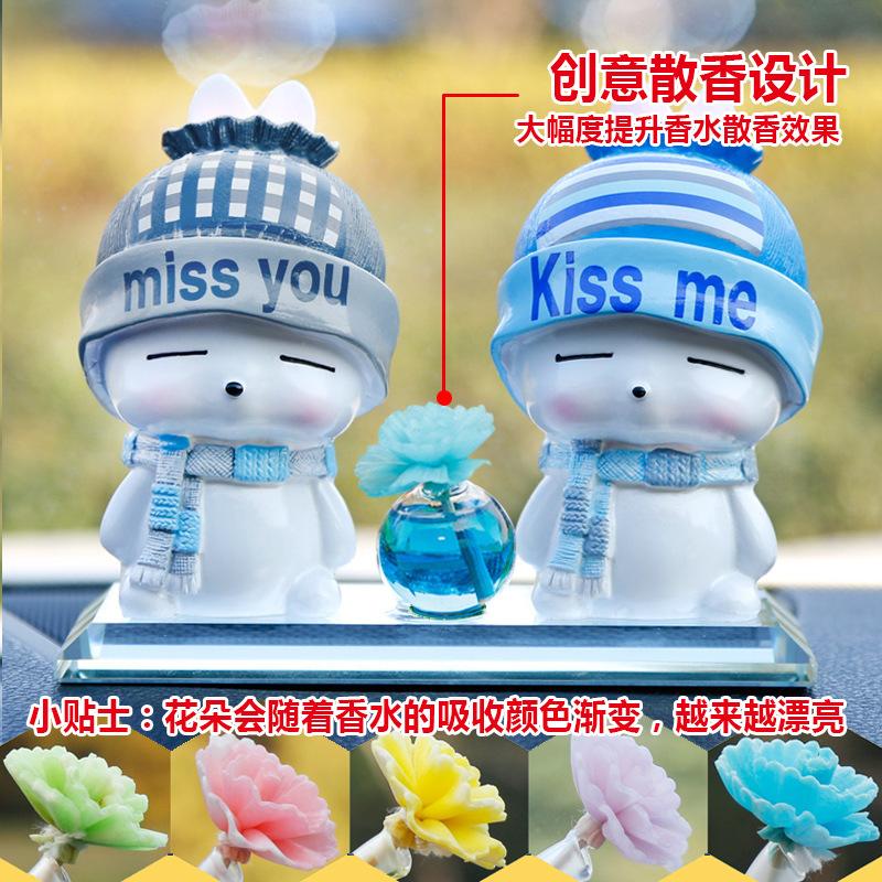 Cute Couple Figurine for Dashboard Decor