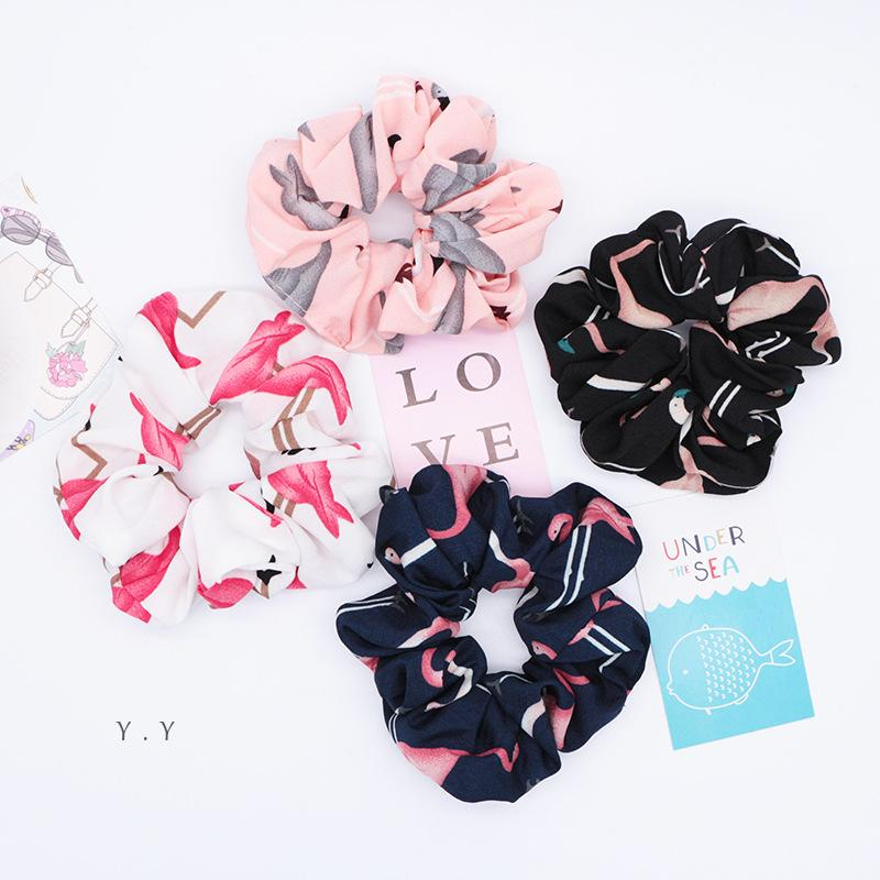 Flamingo Hair Ring Chiffon